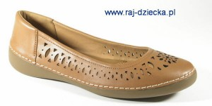 Clarks Fashion Fizz Tan Leather
