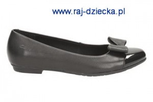 Clarks Abitha Gem Jnr Black Leather