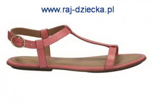 Clarks Risi Hop Coral Leather