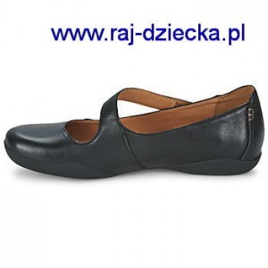 Clarks Felicia Plum Black Leather