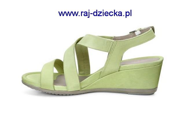 Sandały ECCO Touch 45 Ws 26114302016 Lime Ceny i opinie